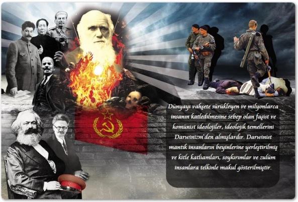 charles darwin komunist diktatorler mao adolf hitler stalin lenin abdullah ocalan trotsky karl marx mussolini