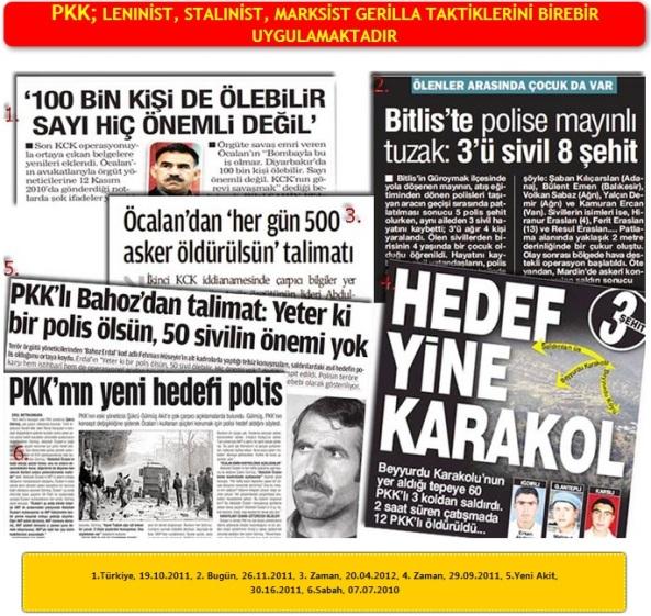 PKK LENINİST STALINİST MARKSİST GERİLLA TAKTİKLERİNİ BİREBİR UYGULAMAKTADIR